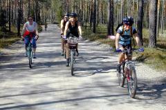 Klatring i Maliskjæra på Finnskogen. Sykkel på Finnskogen FOTO: MORTEN HOLT